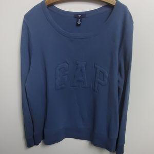 Women's Gap Sweatshirt long sleeved, blue, size XL
